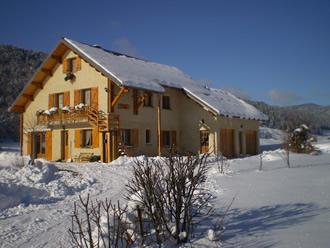 photo du gite en hiver