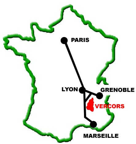 carte france gite clair vallon