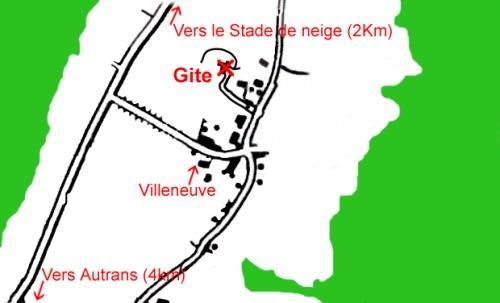accès au gite villeneuve