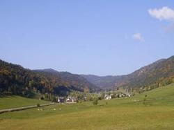 Vue du Val d'Autrans depuis le gite du Clair Vallon